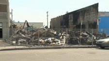 West end business fire next day