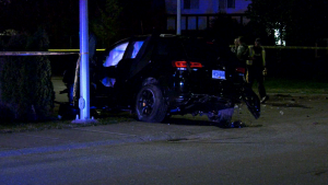 Four people were sent to hospital following a serious crash in Surrey.