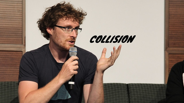 Paddy Cosgrave speaks during the Collision conference's community launch night in Toronto last year.