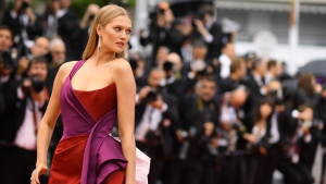 Model Toni Garrn poses for photographers upon arrival at the premiere of the film 'The Best Years of a Life' at the 72nd international film festival, Cannes, southern France, Saturday, May 18, 2019. (Photo by Arthur Mola/Invision/AP)