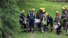 Surrey fire crews called in for ravine rescue