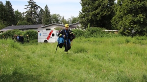 Surrey fire crews called in to rescue man