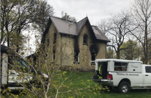 OPP and the fire marshal investigating Huron fire