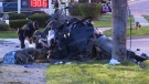 Car in pieces after fatal Guelph crash