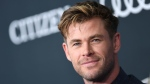 Australian actor Chris Hemsworth can be seen in this photo. (VALERIE MACON / AFP)