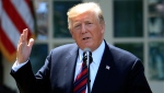 In this May 16, 2019, photo, U.S. President Donald Trump speaks in the Rose Garden of the White House in Washington. For all Trump's talk of winning, his lawyers are using a legal argument that many scholars say is a pretty sure loser to try to defy congressional attempts to investigate him. (AP Photo/Manuel Balce Ceneta)
