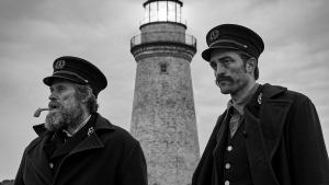 Willem Dafoe and Robert Pattinson on the set of The Lighthouse in Yarmouth, N.S. in this undated handout photo. (THE CANADIAN PRESS/HO - Screen Nova Scotia, Eric Chakeen)
