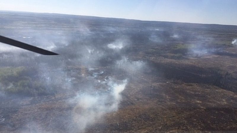 Slave Lake Wildfire Number 50 pictured May 19 at 8:55 a.m. (Courtesy: Alberta Wildfire)