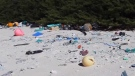 Million pieces of plastic washing up on island