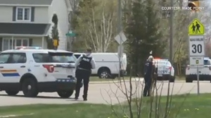 Codiac RCMP have shut down parts of three streets of a residential area of north end Moncton after responding to a man who had reportedly barricaded himself in his home. (Courtesy: Wade Perry)