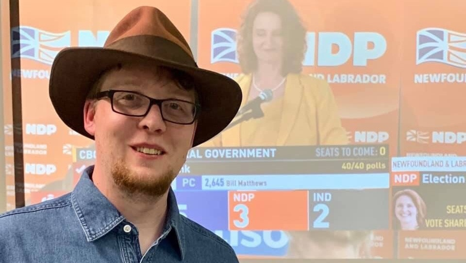 Jordan Brown, NDP candidate for Labrador West, is shown in a handout photo provided by Brown. The deciding seat in Newfoundland and Labrador's Liberal minority setup came from a surprising win in Thursday's election, with an NDP political rookie unseating a Liberal cabinet minister by a slim margin. (THE CANADIAN PRESS/HO-Jordan brown)