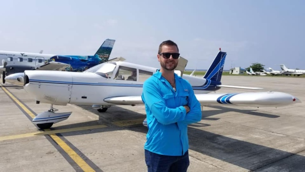 A photo of Patrick Forseth, a Canadian pilot who was killed after a small plane crashed into the sea off the coast of Honduras. (Courtesy of Gino Santarossa / Facebook)