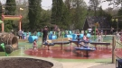 Londoners enjoy beautiful weather on Victoria Day weekend 2019 at splash pad