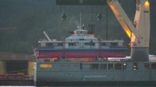 The $32 million vessel will undergo local sea trials before going into service. (CTV)