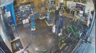 Security camera catches bike theft