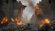 """This image released by HBO shows Peter Dinklage in a scene from """"Game of Thrones,"""" that aired Sunday, May 12, 2019. (HBO via AP)"""