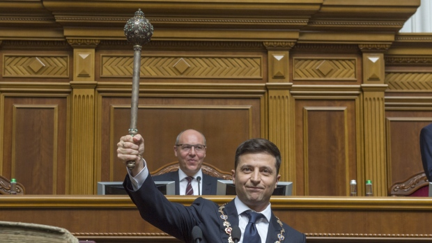 Zelenskiy Sworn In As Ukrainian President, Says He's Dissolving Parliament