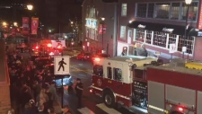 Several streets in downtown Halifax were blocked off during a busy time on Sunday evening, after a fire broke out in the garbage area of the Roxbury bar.
