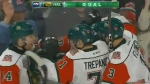 The Halifax Mooseheads booked themselves a spot in the Memorial Cup semi-final with a 4-2 win over the Guelph Storm on Sunday night.