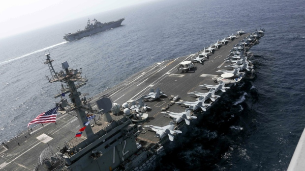 US Navy conducts exercises in Arabian Sea