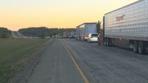 Highway 16 closed Sunday due to fire near Edson