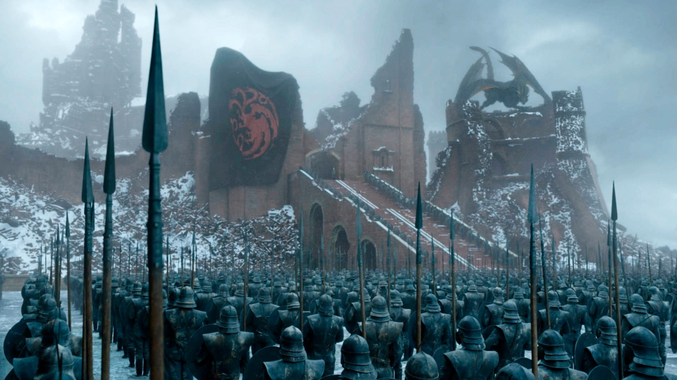 """This image released by HBO shows a scene from the series finale of """"Game of Thrones."""" (HBO via AP)"""