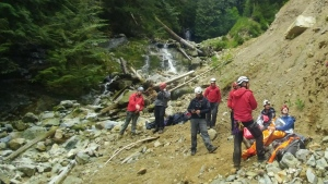 Ridge Meadows Search and Rescue were called in to rescue two children stranded on Burke Mountain. (Ridge Meadows Search and Rescue)