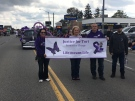Justice for Tori supporters March in Woodstock Victoria Day parade