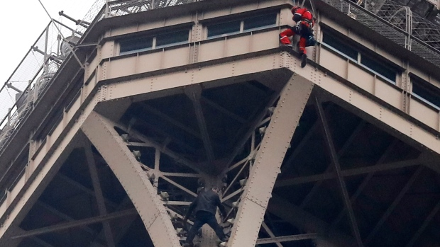 Eiffel Tower closed as trespasser tries to climb monument
