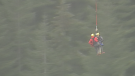 Two children were rescued after an overnight search on Burke Mountain in Coquitlam.