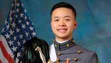 In this undated photo provided by the United States Military Academy at West Point, N.Y., USMA cadet Peter L. Zhu is shown. (United States Military Academy via AP, File)