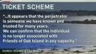 Oak Island falls victim to ticket scheme