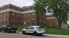 Windsor police investigate a stabbing at an apartment building located at 1616 Ouellette Avenue on May 20, 2019. (Ricardo Veneza / CTV Windsor)
