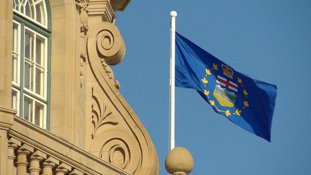 Alberta, legislature, flag