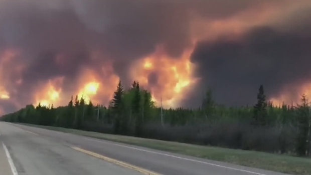 Alberta wildfire forces evacuations