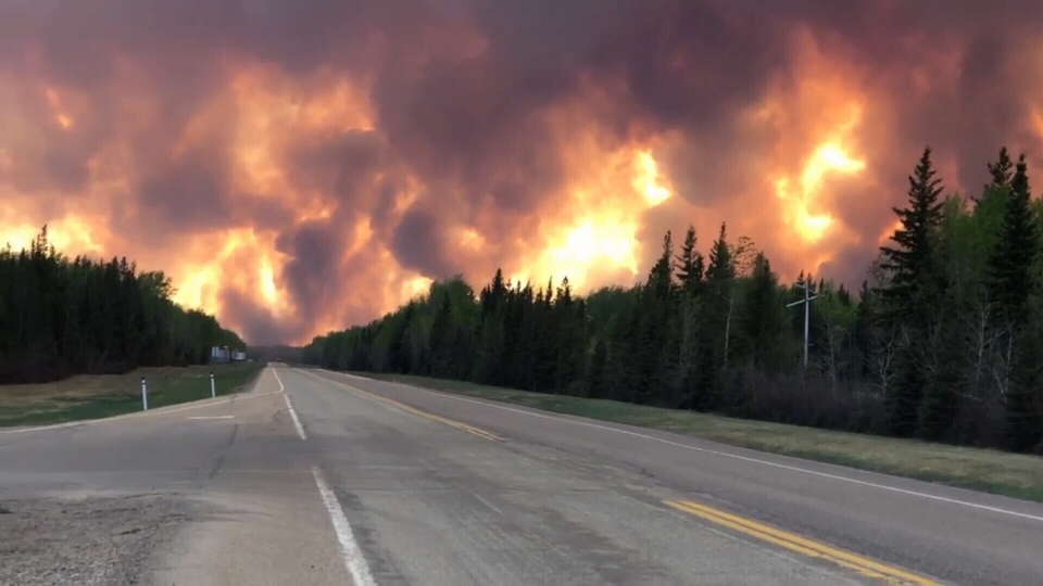 High Level residents were evacuated at 4 p.m. on Monday after a 69,000-hectare fire neared their town. (Courtesy: Deb Stecyk)