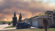 Wildfire forces people to evacuate