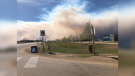 High Level residents were evacuated at 4 p.m. on Monday after a 69,000-hectare fire neared their town. (Courtesy: Ayanna Gonzales)