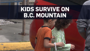 Kids rescued after spending night on B.C. mountain