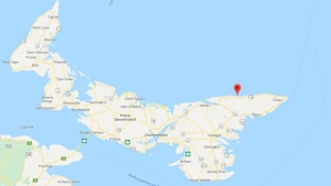 An extensive search is underway off the northeast coast of Prince Edward Island, near Naufrage, after a fisherman was reported overboard on May 21, 2019. (Google Maps)
