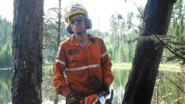 Ontario firefighter Adam Knauff pictured in a handout photo. (THE CANADIAN PRESS/HO-Adam Knauff)