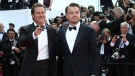 Actors Leonardo DiCaprio, left, and Brad Pitt pose for photographers upon arrival at the premiere of the film 'Once Upon a Time in Hollywood' at the 72nd international film festival, Cannes, southern France, Tuesday, May 21, 2019. (Photo by Joel C Ryan/Invision/AP)