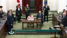 Legislature swearing in