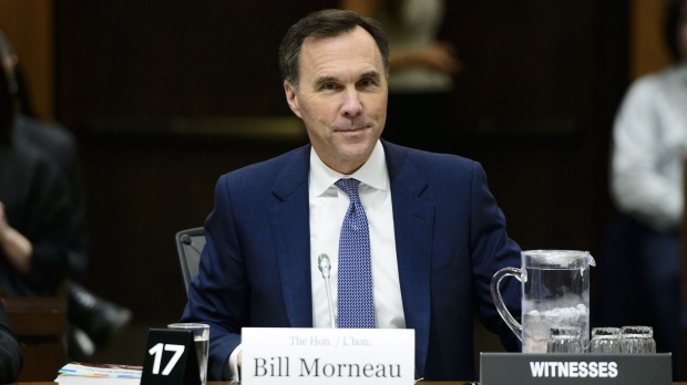 Finance Minister Bill Morneau appears before the Commons finance committee on Parliament Hill in Ottawa on Wednesday, May 1, 2019. THE CANADIAN PRESS/Sean Kilpatrick