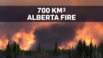 Wildfire burning in Alberta is now 70,000 hectares
