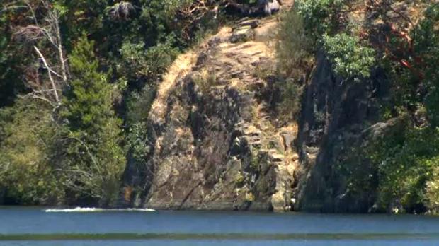Cliff face at Thetis Lake View Royal