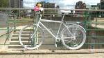 Ghost Bike installed in Ottawa