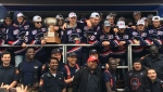 The Brooks Bandits celebrated their National Junior A Championship title in Veterans Park on Tuesday with their fans