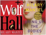 This combination of book covers released by Henry Holt and Company shows 'Wolf Hall' and 'Bring Up the Bodies' both by British author Hilary Mantel. (Henry Holt and Company via AP)