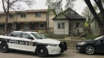 Around 9:50 p.m., emergency crews were called the 500 block of Flora Avenue and found the victim with a stab wound. (Source: Alex Brown/CTV News)